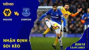 Nhận đinh – soi kèo Wolves vs Everton 03h15 - 13/01/2021