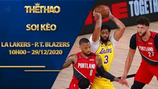 Kèo bóng rổ – LA Lakers vs Portland Trail Blazers – 10h00 – 29/12/2020