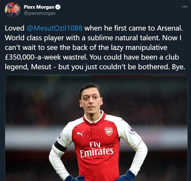 Fan cứng của Arsenal xỉa xói Ozil