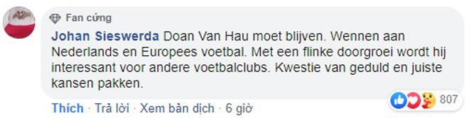 CĐV Heerenveen gửi lời cám ơn Văn Hậu và hy vọng anh sẽ tiếp tục gắn bó với đội bóng |JP88