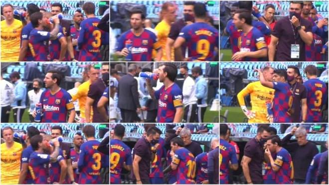 Khoảnh khắc Messi tỏ thái độ với  trợ lí  Eder Sarabia ngay trước mắt HLV trưởng  Quique Setien |JP88