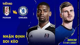 Nhận định – soi kèo Fulham vs Chelsea 00h30 - 17/01/2021