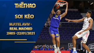Kèo bóng rổ – Maccabi Playtika Tel Aviv vs Real Madrid – 2h05 – 22/1/2021