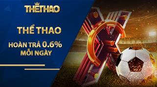 HOÀN TRẢ THỂ THAO 0.6% MỖI NGÀY