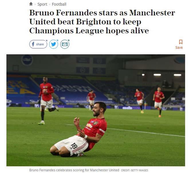 Theo tờ Telegraph, MU xứng đáng có chỗ trong top 4 Ngoại hạng Anh 2019/20 |JP88
