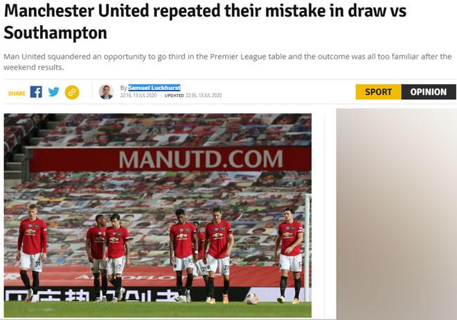 Tờ Manchester Evening News chỉ ra MU lại từ chối cơ hội do Chelsea tạo ra |JP88
