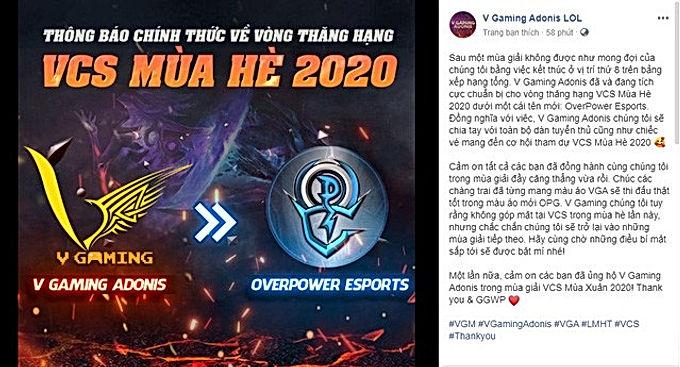 Quản lý Percent Esports lên tiếng xin lỗi Optimus sau bài đăng 'cà khịa' chế tên OPG và các đội VCS