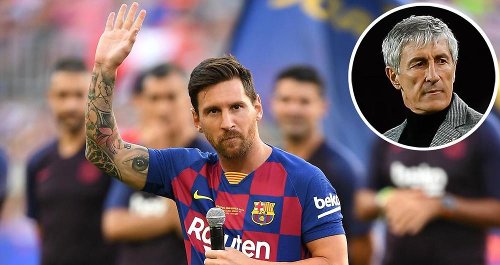 HLV Quique Setien khẳng định Lionel Messi sẽ gắn bó với Barcelona  đến khigiải nghệ.  JP88