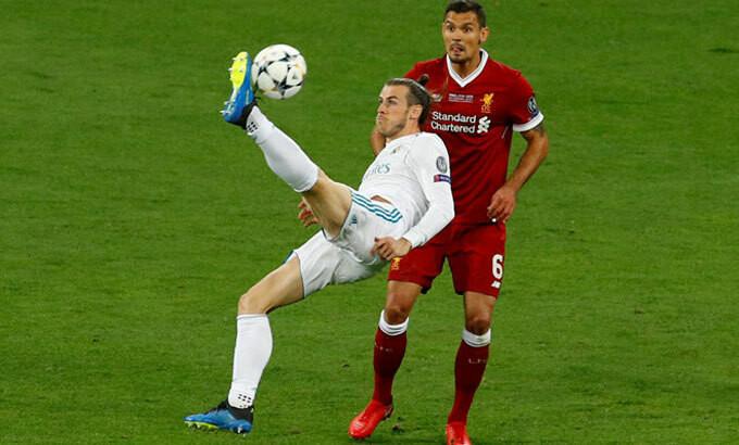Bale ghi bàn trong trận chung kết Champions League 2018. |JP88