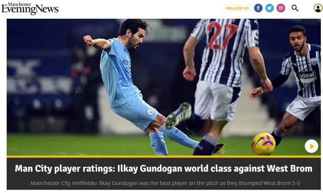 Trong khi đó, tờ Manchester Evening News lại đặc biệt khen ngợi Gundogan