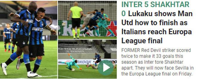 Lukaku dạy MU cách dứt điểm để vào được chung kết Europa League |JP88
