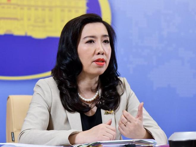 Người phát ngôn Bộ Ngoại giao VN LÊ THỊ THU HẰNG phát biểu hôm 8-5 |JP88