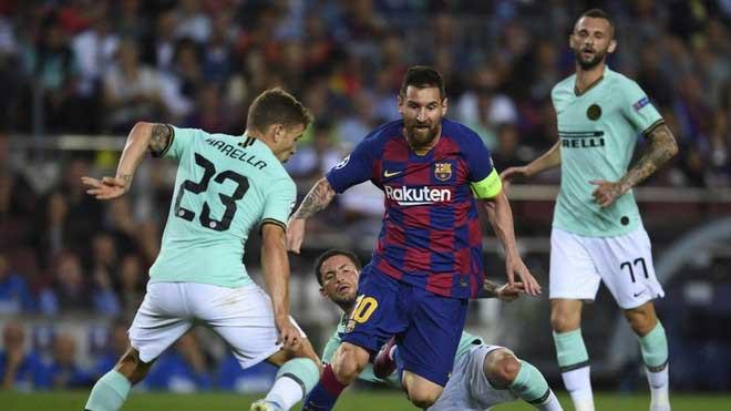 Messi từng cùng Barca đối đầu Inter Milan ở vòng bảng Champions League mùa này |JP88