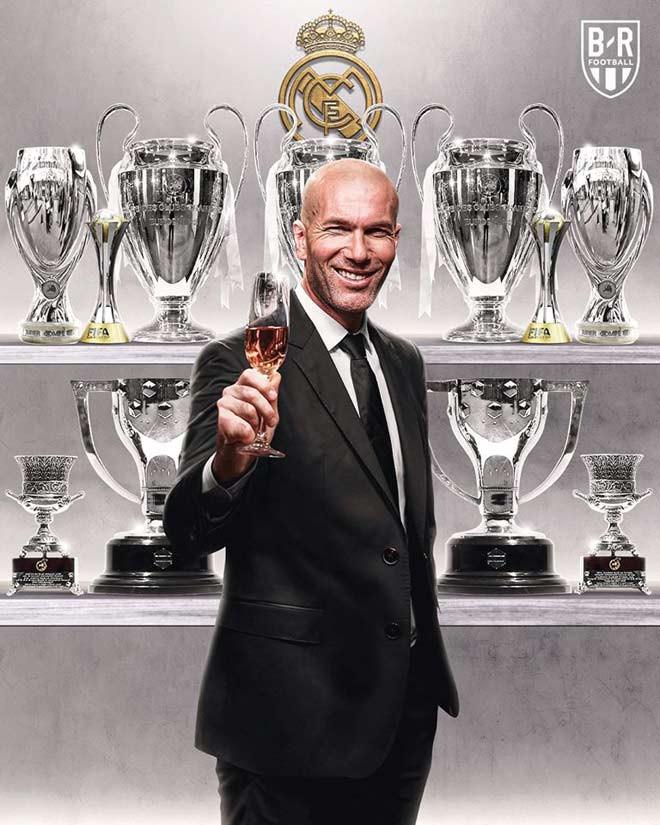 HLV Zinedine Zidane lại gặt hái thêm 1 danh hiệu cao quý nữa khi dẫn dắt Real Madrid |JP88