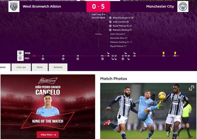 Trang chủ Premier League vinh danh Joao Cancelo