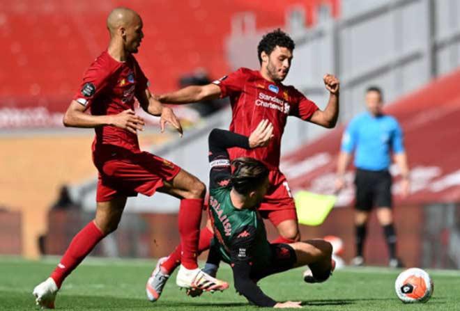 Liverpool và Aston Villa chơi khá rời rạc trong hiệp 1 |JP88