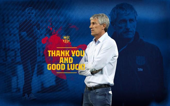 Barcelona chính thức chia tay Quique Setien