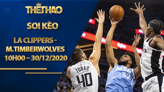 Kèo bóng rổ – LA Clippers vs Minnesota Timberwolves – 10h00 – 30/12/2020