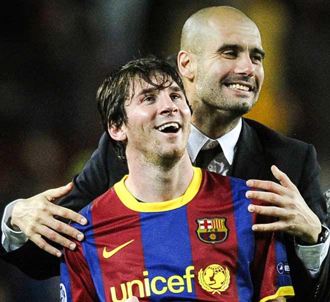 Messi sắp tái ngộ thầy cũ Pep Guardiola tại Man City?
