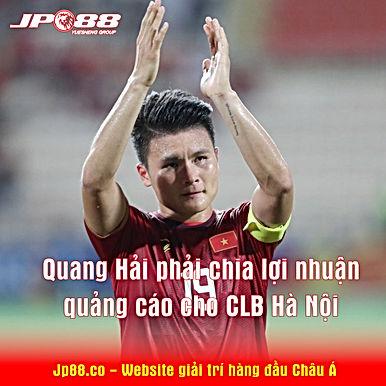 Quang Hải phải chia lợi nhuận quảng cáo cho CLB Hà Nội