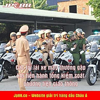 Các lỗi lái xe máy thường gặp khi tiến hành tổng kiểm soát phương tiện giao thông