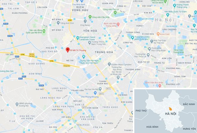 Tiệm vàng bị cướp ở phố Mễ Trì Thượng, quận Nam Từ Liêm, Hà Nội. |JP88