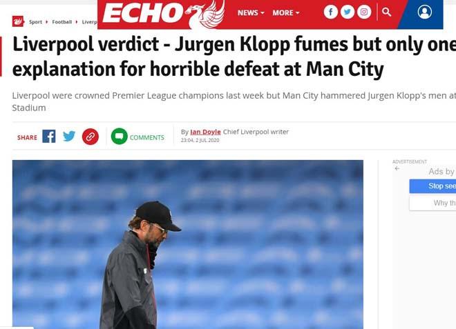 Tờ Liverpool Echo âu lo cho mùa giải 2020/21 của CLB Liverpool |JP88