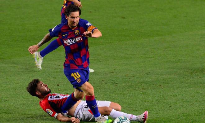 Dù Messi không ghi bàn nhưng Barca vẫn có chiến thắng tối thiểu nhờ pha lập công của Rakitic |JP88