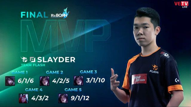 Slayder chính là MVP của trận chung kết VCS mùa xuân vừa rồi |JP88