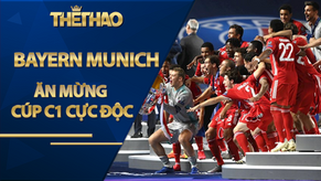 Vua châu Âu Bayern Munich ăn mừng Cúp C1 cực độc, Lewandowski ôm cúp đi ngủ