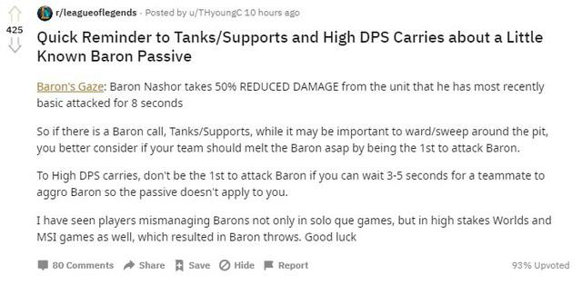 Game thủ quốc tế chia sẻ kinh nghiệm tối đa hóa sát thương khi ăn Baron |JP88
