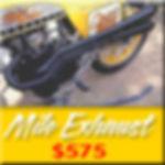OMARS MILE EXHAUST, YAMAHA XS650 EXHAUST, XS650 EXHAUST SYSTEM