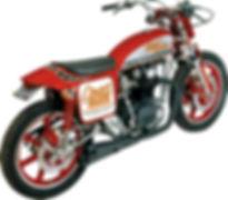 YAMAHA XS650 EXHAUST, XS650 DIRT TRACK RACING EXHAUST