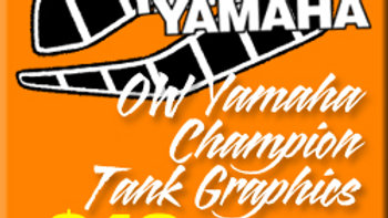 OW YAMAHA TANK STICKERS / SET OF 4