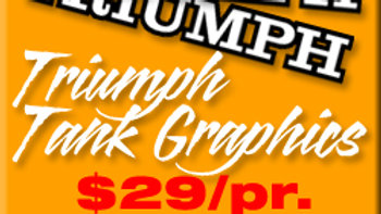 TRIUMPH TANK GRAPHICS / PAIR