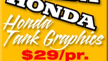 HONDA TANK GRAPHICS / PAIR