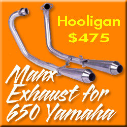YAMAHA XS650 EXHAUST SYSTEM, XS650 DIRT TRACK EXHAUST