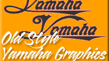 OLD STYLE YAMAHA GRAPHICS / PAIR