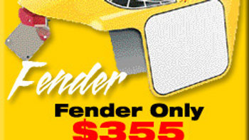 FENDER WITH NUMBER PANEL