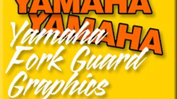 YAMAHA FORK GUARD GRAPHICS / PAIR