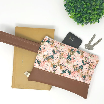 Wholesale Mini Wristlet - Pink Meadow