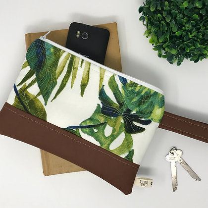 Jade Palm | Mini Wristlet
