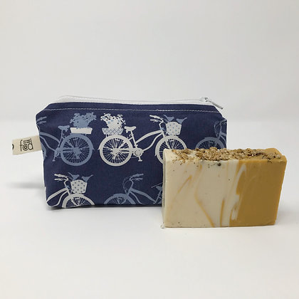 Wholesale Small Zipper Pouch - Bikes at Dusk