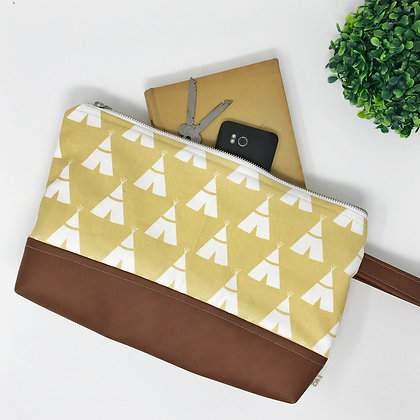 Wholesale Medium Clutch - Yellow Tepee