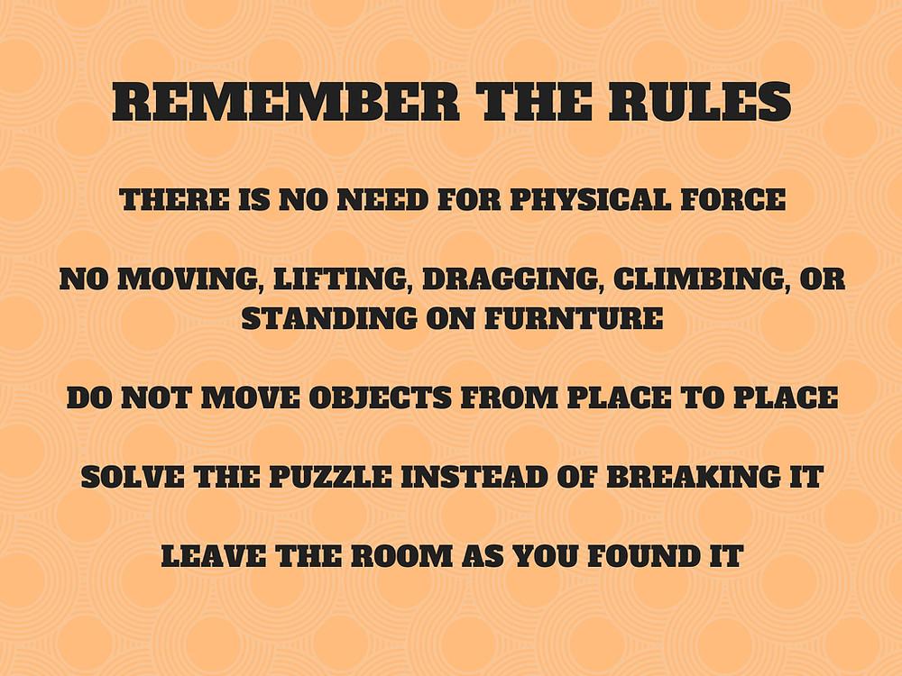 Escape Room Rules