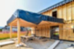 Construction maison osature bois