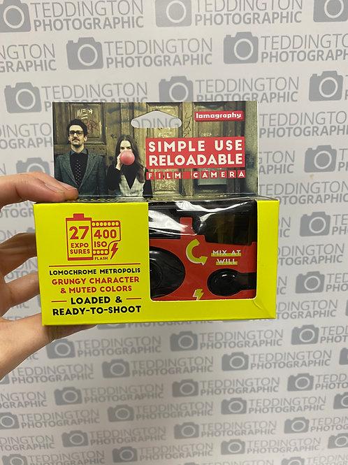 Lomography Simple Use Reloadable Film Camera Metropolis 35mm iso400