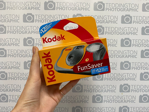 Kodak Fun Saver Single Use Camera 27+12 Shots