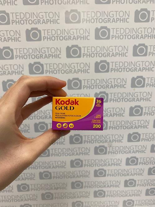 Kodak Gold 35mm Colour Film 200 ISO 36exps