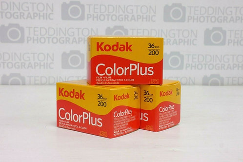 3 x Kodak ColorPlus 200 35mm colour negative film